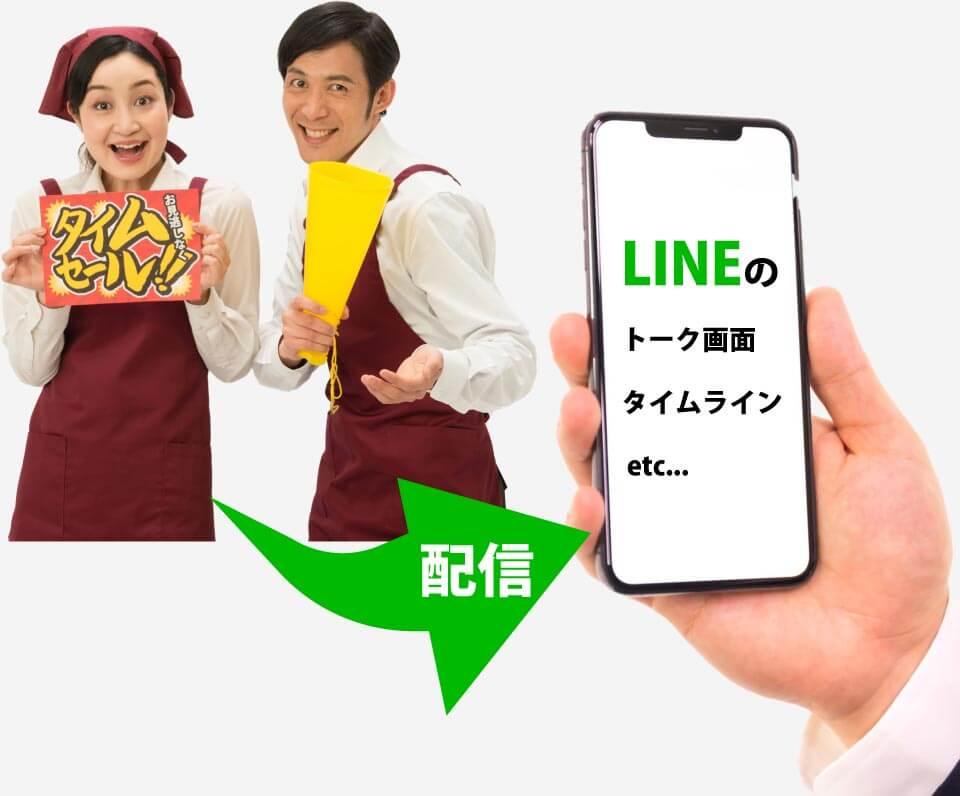 LINEアプリに企業側が直接情報配信